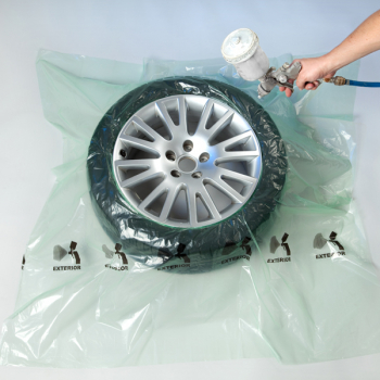 Tire masking film for painting of rims